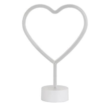 image-Neon Pink Heart LED Lamp Pink