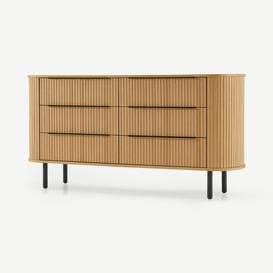 image-Tambo 6 Drawer Wide Chest, Oak