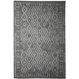 image-Virgo Traditional Handmade Kilim Wool Grey Rug Bloomsbury Market