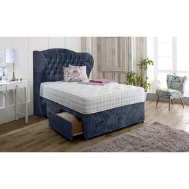 image-Irizarry Upholstered Divan Bed and Headboard Rosdorf Park Colour: Mid Grey, Size: Super King (6'), Storage Type: 2 Drawers Same Side