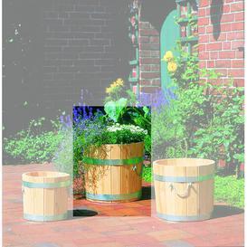 image-Barrel Planter Symple Stuff Size: 42cm H x 46cm W x 46cm D