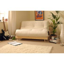 image-Pfeffer 2 Seater Futon Sofa Mercury Row Upholstery Colour: Natural, Size: Small Double (4')