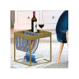 image-Club NY Magazine Metal Side Table In Martini Olive