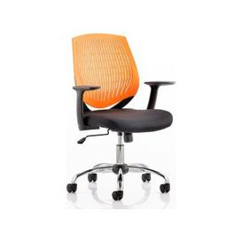 image-Dura Task Office Chair In Orange With Arms