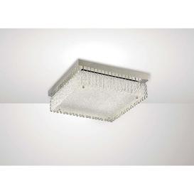 image-Diyas IL80053 Aiden LED Large Square Flush Light In Polished Chrome - L: 380mm