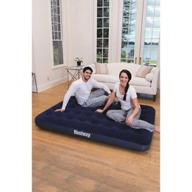 image-Double Flocked Airbed with Pump