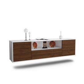 "image-Grajeda TV Stand for TVs up to 78"" Ebern Designs Colour: Walnut"