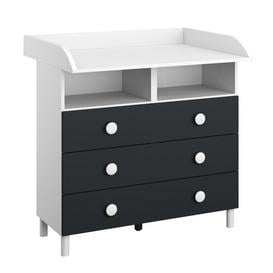 image-Filipo Changing Table Rauch Colour: Alpine white and metallic grey
