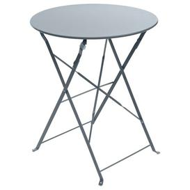 image-Nifelheim Folding Steel Bistro Table Sol 72 Outdoor Colour: Slate
