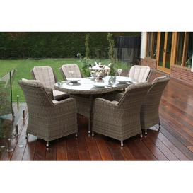 image-Elvina 6 Seater Dining Set Dakota Fields