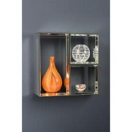 image-Mirrored Wall Shelves -Uno- 2 Square &amp 1 Rectangle