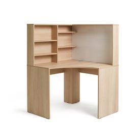 image-Habitat Pepper Corner Desk - Oak Effect
