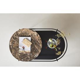 image-Verde Marble Top Coffee Table, Brown