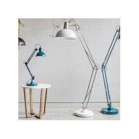 image-Watson Floor Lamp In Brushed Nickle and White Finish