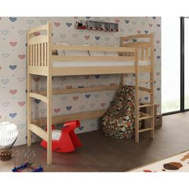 image-Wooden Bunk Loft Bed Tess - Pine Without Mattresses