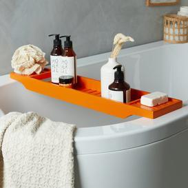 image-Orange Bamboo Bath Rack Orange