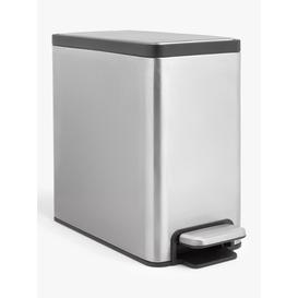 image-John Lewis & Partners Rectangular Recycling Bathroom Bin, 6L