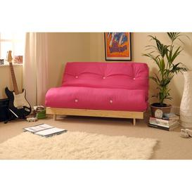 image-Pfeffer 2 Seater Futon Sofa Mercury Row Upholstery Colour: Pink, Size: Double (4'6)