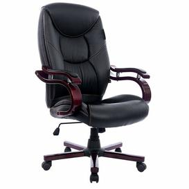 image-Swivel Executive Chair Symple Stuff Colour (Upholstery) (Upholstery): Black