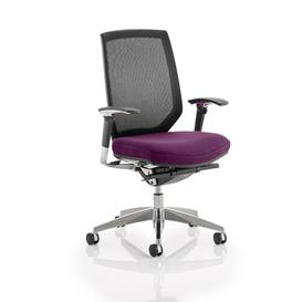 image-Mid-Back Mesh Desk Chair Symple Stuff Colour: Aubergine