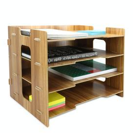 image-Wooden Desk Organiser - Pukkr Rectangle