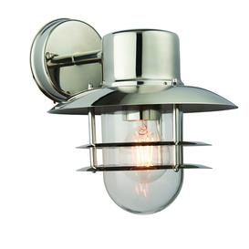 image-Lenny outdoor wall lantern in stainless steel, dimmable, IP44 - 90405.