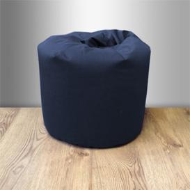 image-Small Children's Cotton Twill Bean Bag Chair Ebern Designs Upholstery Colour: Navy