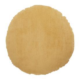 image-Circle Corduroy Cushion Yellow
