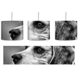 image-Beagle Profile 1-Light Drum Pendant East Urban Home Shade colour: Black/White