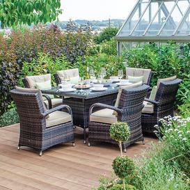 image-Marano 6 Seater Dining Set with Cushions Dakota Fields