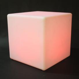 image-Beatrix LED Cube Decorative Stool Ebern Designs