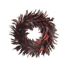 image-Libra Feather Red Wreath - Xmas-18