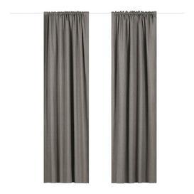 image-Coleraine Pencil Pleat Blackout Thermal Curtains Marlow Home Co. Colour: Charcoal, Panel Size: Width 168cm x Drop 137 cm