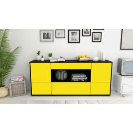 image-Falmouth Sideboard Mercury Row Body/Front colour: Black/Yellow