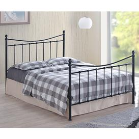 image-Alderley Metal Small Double Bed In Black