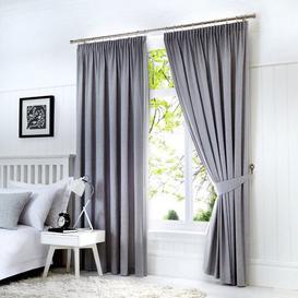 image-Coleraine Pencil Pleat Blackout Thermal Curtains Marlow Home Co. Panel Size: 229 W x 183 D cm, Colour: Silver