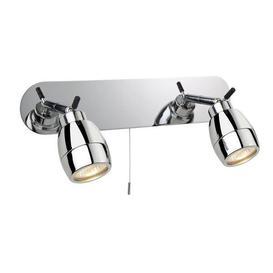 image-Firstlight 9502CH Marine Chrome 2 Light Bathroom Wall Spotlight, IP44