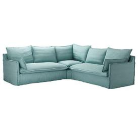 image-Isaac Medium Corner Sofa in Eucalyptus Smart Cotton