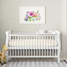 image-Lozano Cot Bed with Mattress Isabelle & Max Mattress Type: Deluxe Sprung Mattress, Drawer Included: No