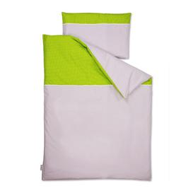 image-White Dots Children's Duvet Cover Set KraftKids Colour: Green/Grey