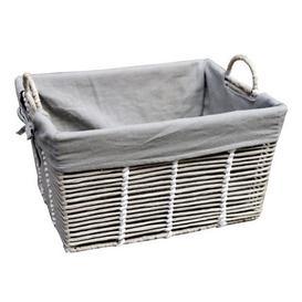 image-Purity Grey Basket with Handles Grey