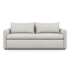 image-Heal's Pillow 4 Seater Sofa Melton Wool Limestone Black Feet