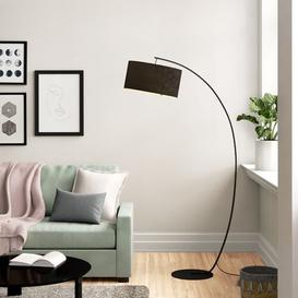 image-Lottie 183cm Arched Floor Lamp Zipcode Design Shade Colour: Black, Bulb Included: Yes