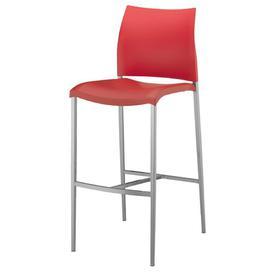 image-Ashima 80cm Bar Stool Sol 72 Outdoor Colour: Red