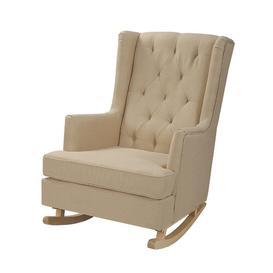 image-Ovalle Rocking Chair Ebern Designs Colour: Beige
