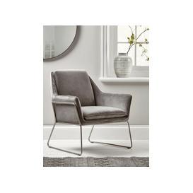image-Carter Occasional Chair - Grey Velvet