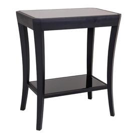 image-RV Astley Hyde Side Table with Black Glass