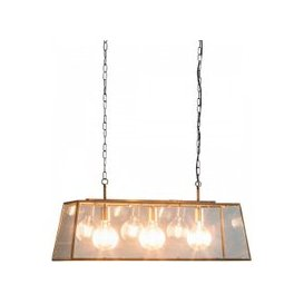 image-Lancaster Pendant Light With Glass Frame