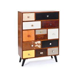 image-Funky Wooden Sideboard Chest Of Metal Drawers