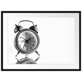 image-'Pink Alarm Clock' Framed Photographic Poster East Urban Home Size: 60cm H x 80cm W